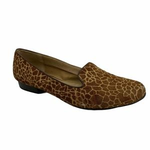 FOSSIL Calabash Slip On Loafers Giraffe Flats